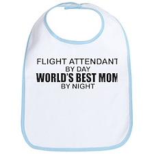 World's Best Mom - FLIGHT ATTENDANT Bib