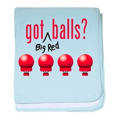 Got (Big Red) Balls? baby blanket