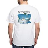 Marlin Mens White T-shirts