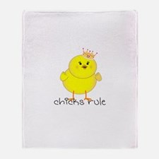 Chicks Rule Throw Blanket