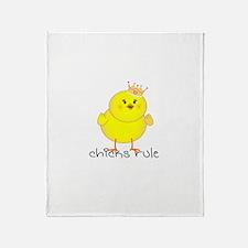 Chicks Rule Throw Blanket