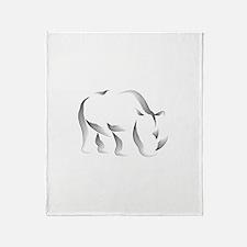 The Rhinoceros Throw Blanket