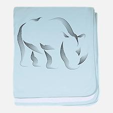 The Rhinoceros baby blanket