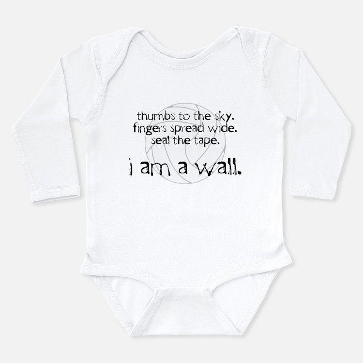 I Am A Wall Long Sleeve Infant Bodysuit