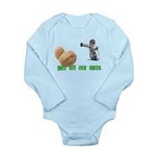 Get off my nuts! Long Sleeve Infant Bodysuit
