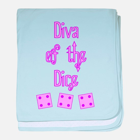 Diva of the Dice baby blanket