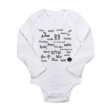 Peace Everywhere! Long Sleeve Infant Bodysuit