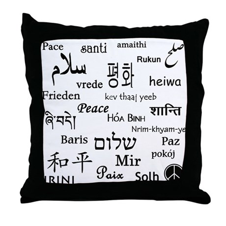 Peace Everywhere! Throw Pillow