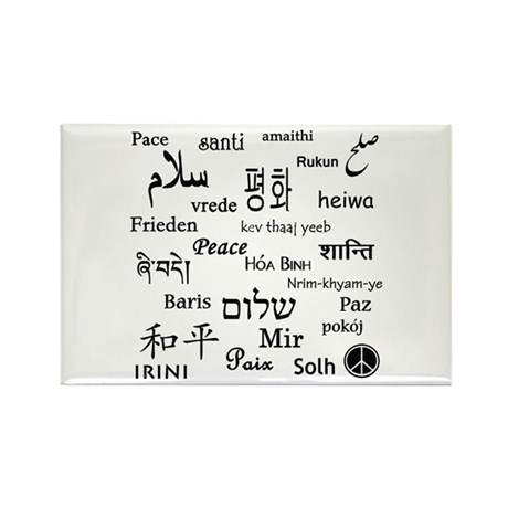 Peace Everywhere! Rectangle Magnet (100 pack)