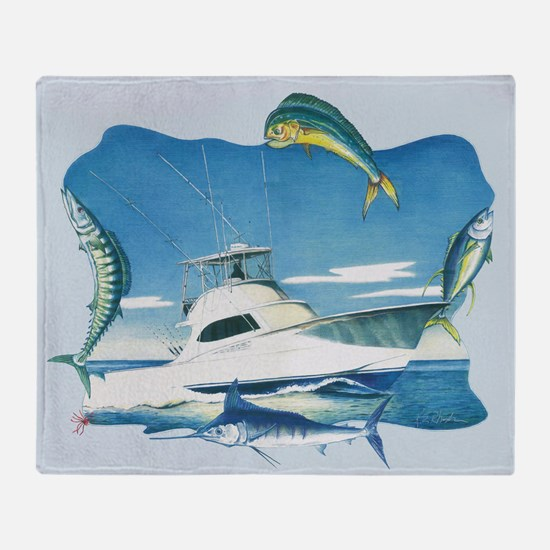 Caolina Sportfishing Throw Blanket