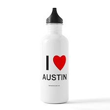 I Love Austin Water Bottle
