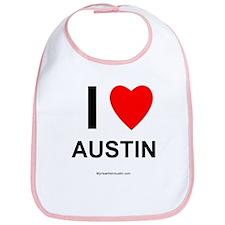 I Love Austin Bib
