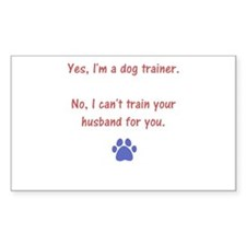 can't trainer your husband Decal