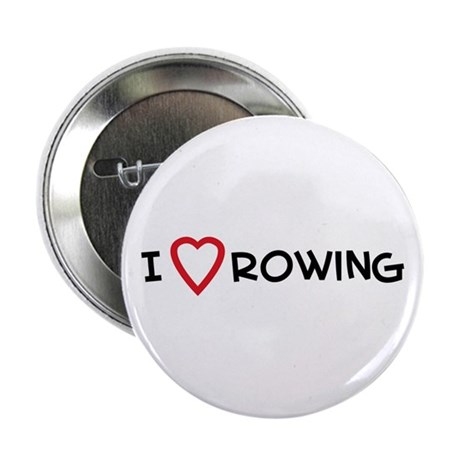 I Love Rowing Button