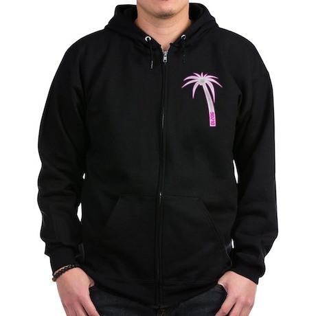 90210 Palm Tree Zip Hoodie (dark)