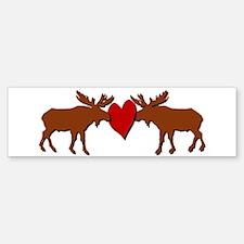 Kissing Moose Bumper Bumper Bumper Sticker