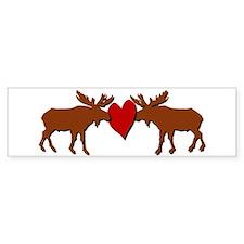 Kissing Moose Bumper Bumper Sticker