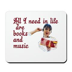 Books and Music Mousepad