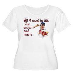 Books and Music T-Shirt