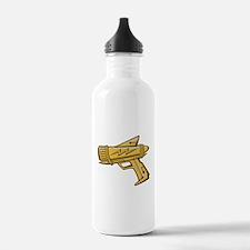 Golden Toy Ray Gun Water Bottle