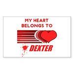 My Heart Belongs to Dexter Sticker (Rectangle)