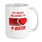 My Heart Belongs to Dexter Large Mug