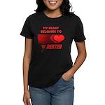My Heart Belongs to Dexter Women's Dark T-Shirt