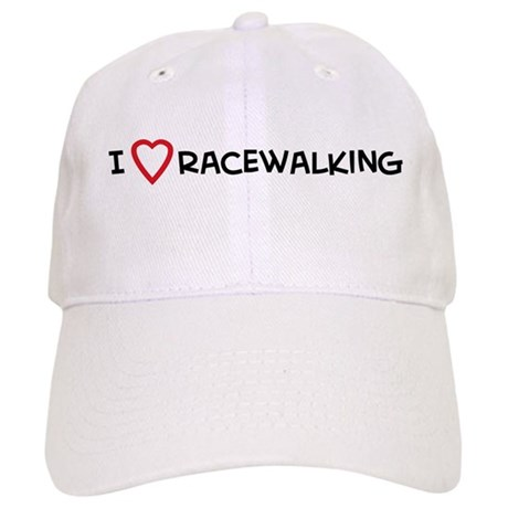 I Love Racewalking Cap
