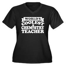 Chemistry Teacher Women's Plus Size V-Neck Dark T-
