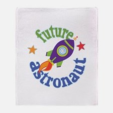 Future Astronaut Throw Blanket
