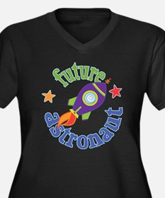 Future Astronaut Women's Plus Size V-Neck Dark T-S