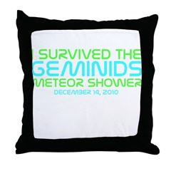 Geminids Survival Throw Pillow