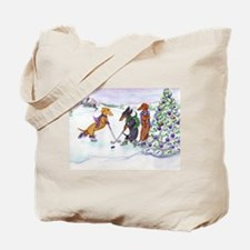 Hockey Dachsies Tote Bag