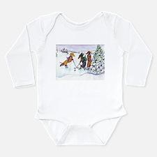 Hockey Dachsies Long Sleeve Infant Bodysuit