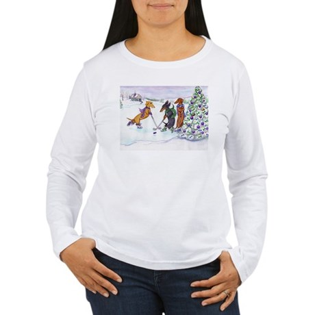 Hockey Dachsies Women's Long Sleeve T-Shirt