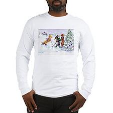 Hockey Dachsies Long Sleeve T-Shirt