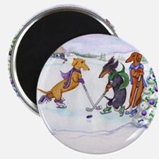 Hockey Dachsies Magnet