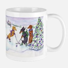Hockey Dachsies Mug