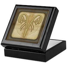 Aries Zodiac Symbol Keepsake Box