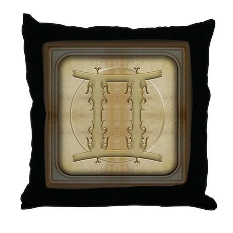Gemini Zodiac Symbol Throw Pillow