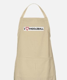 I Love Paddleball BBQ Apron