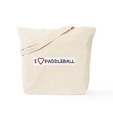 I Love Paddleball Tote Bag