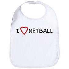 I Love Netball Bib