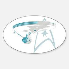Star Trek Enterprise NCC-1701 Sticker (Oval)