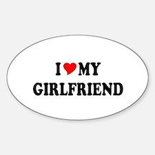Cute Girlfriend Sticker (Oval)