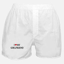 Cute I love my girlfriend Boxer Shorts