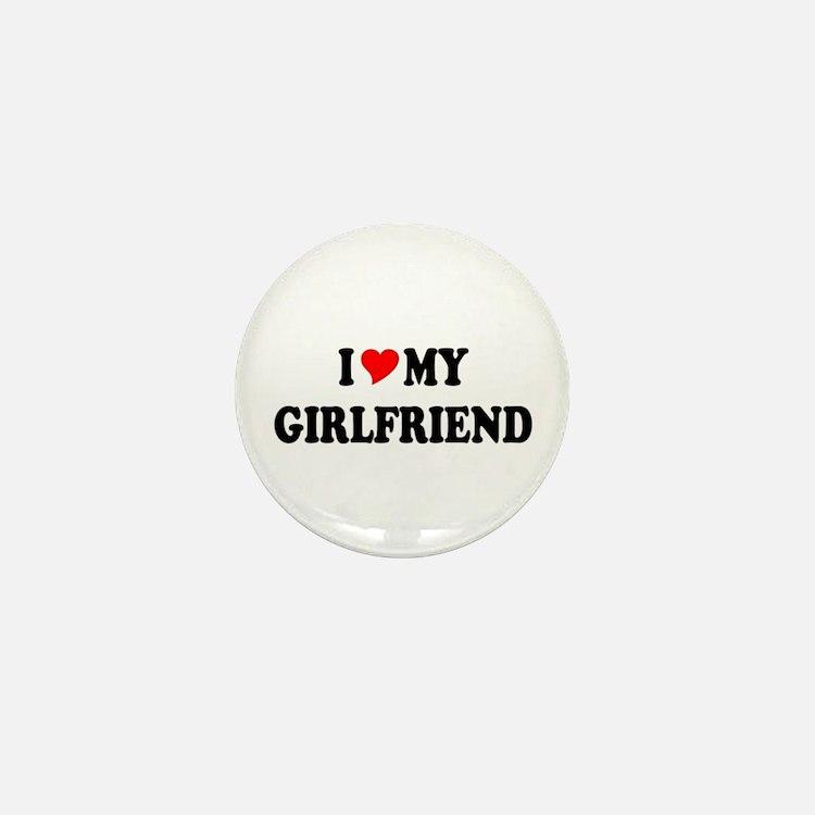 Cute I love my social worker Mini Button