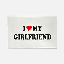 Cute I love my girlfriend Rectangle Magnet