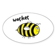 'Worker Bee' Oval Decal