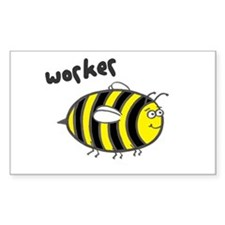 'Worker Bee' Rectangle Decal